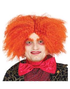 Perruque chapelier orange adulte