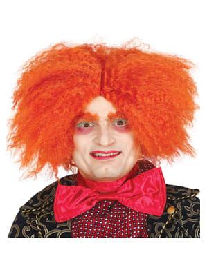 Parrucca arancione da cappellaio per adulto