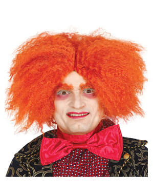 Perucă de pălărier portocalie pentru adult