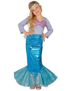 Disfraz de sirenita de los mares para niña