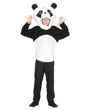 Pandabjørnekostume til drenge