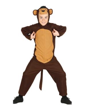Fato de macaco brincalhão para menino