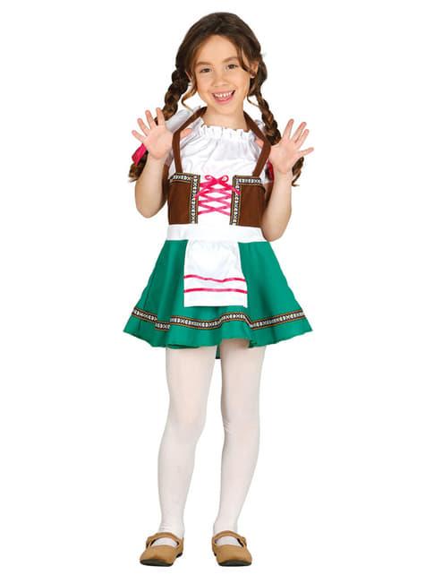 Disfraz de bávara para niña