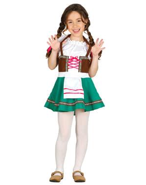 התלבושות הבווארית של הילדה