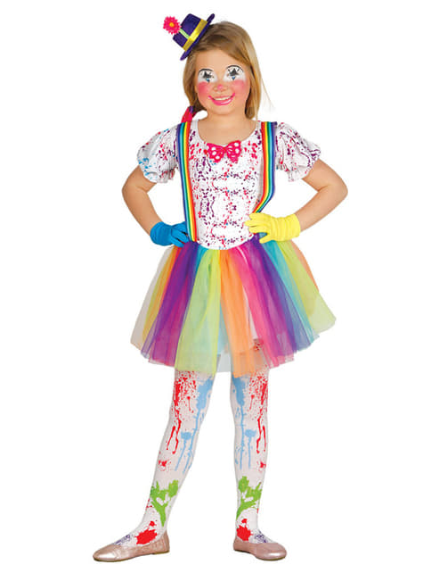 Fato de palhacinha multicolor para menina