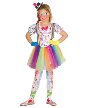 Déguisement clown multicolore fille