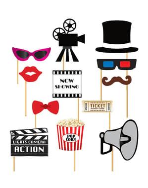 12 accesorios photocall de cine