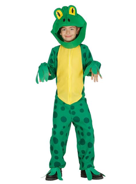 Fato de rã verde para menino