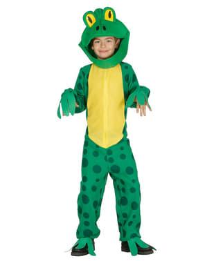 Grünes Frosch Kostüm für Jungen