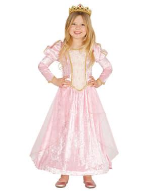 Déguisement princesse rose de conte fille
