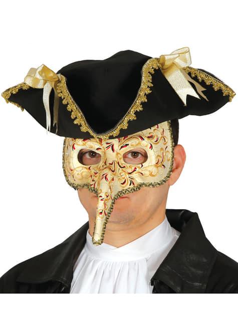 Barokk Svartedøden Maske Mann