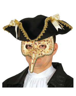 男性のためのエレガントなベネチアのカーニバルアイマスク