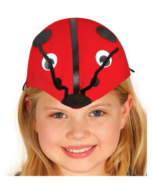 Chapéu de joaninha para menina