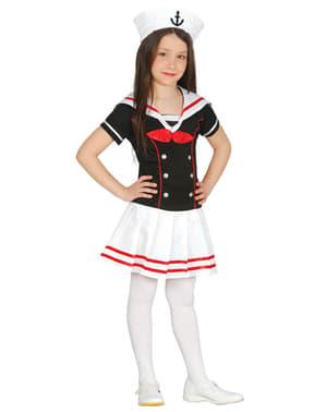 Dievčenský elegantný dievčenský kostým - námorníčka