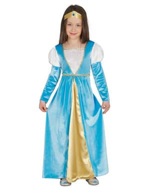 Middelaldersk Prinsesse Kostyme Jente