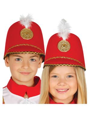Chapéu de majorette vermelho infantil