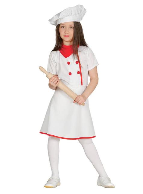 Kostium kucharka dla dziewczynki