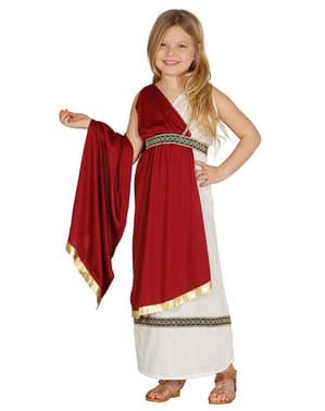 התלבושות הרומאיות האלגנטיות של הילדה
