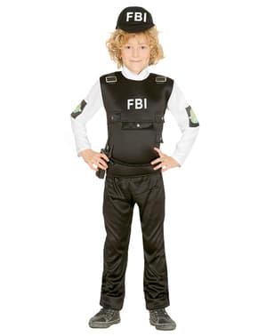 Gyermek FBI rendőrségi jelmez