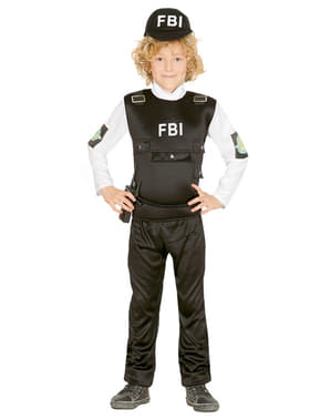Kids FBI Police Costume