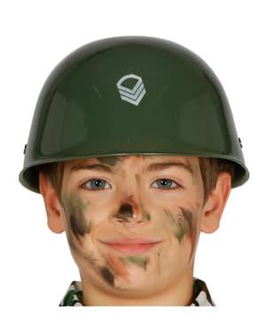 Capacete militar infantil