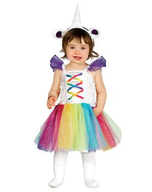 Maskeraddräkt enhörning flerfärgad för bebis