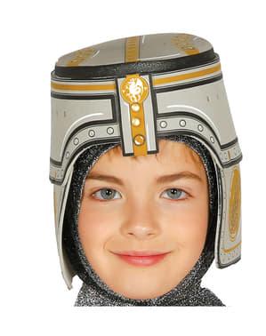 Middelalder Ridder Hjelm Barn