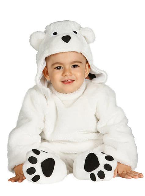 Disfraz de osito polar para bebé