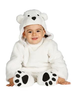 Isbjørnekostume til babyer