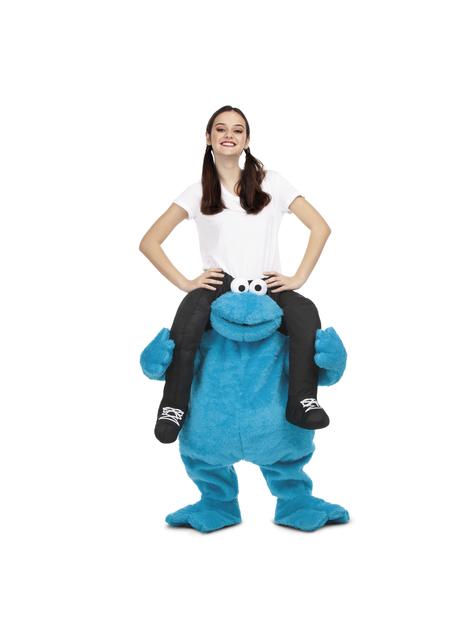 Fato de Monstro das Bolachas Rua Sésamo ride on para adulto