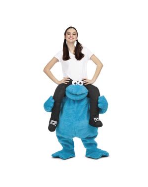 Costume Cookie Monster Sesame Street ride on per adulti