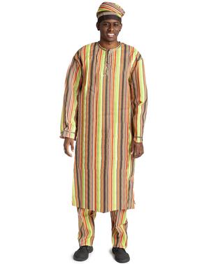 Disfraz de africano para hombre talla grande