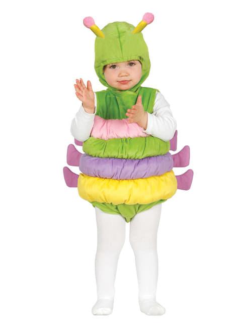 Disfraz de gusanito adorable para bebé