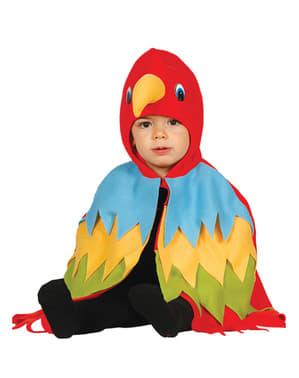 Fato de papagaio vermelho para bebé