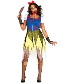 Costum de prințesă a zăpezii zombie pentru femeie