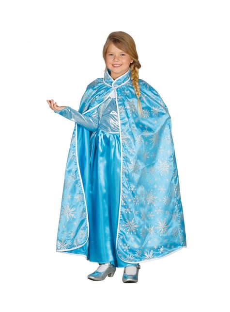 Capa de princesa del hielo para niña