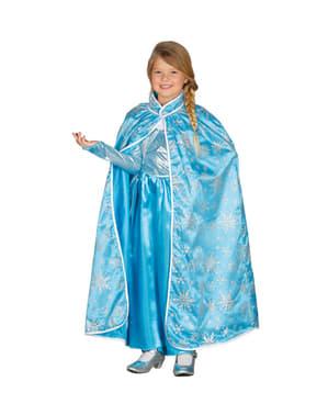 Capa de princesa do gelo para menina