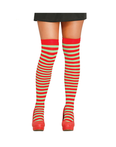 38c6d45e964 Tights with red and green stripes for women
