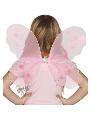Asas cor-de-rosa infantis