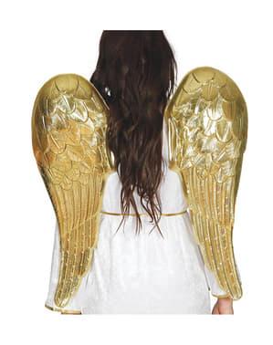 Asas de anjo douradas para adulto