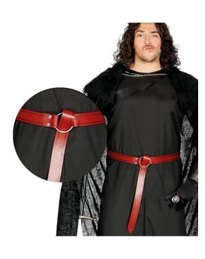 Cinturón medieval rojo para adulto