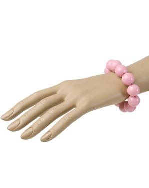 Pulsera de perlas rosas