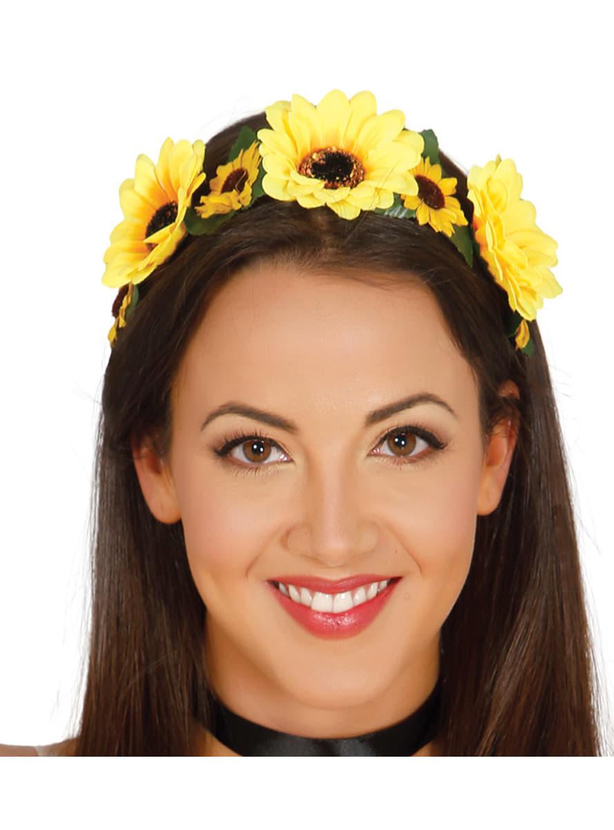 Womens Yellow Flowers Headband