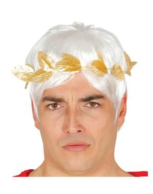 Corona d'alloro dorata per adulto