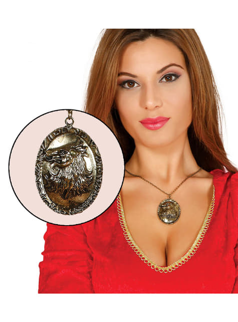 Adult's Gold Plated Wolf Pendant