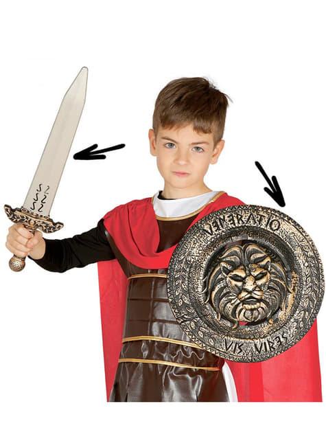 Conjunto de guerreiro romano para menino