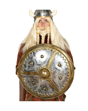 Scut viking rotund pentru adult