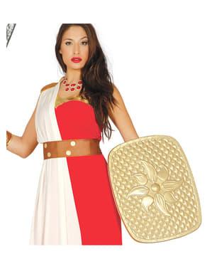 Escudo romano dourado para adulto