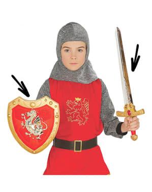 Lasten Keskiaikaisen Sotilaan setti