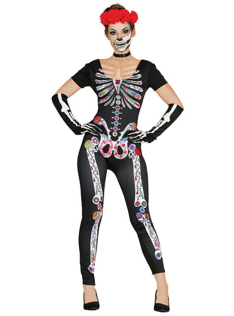 Woman's Mexican Skeleton Costume